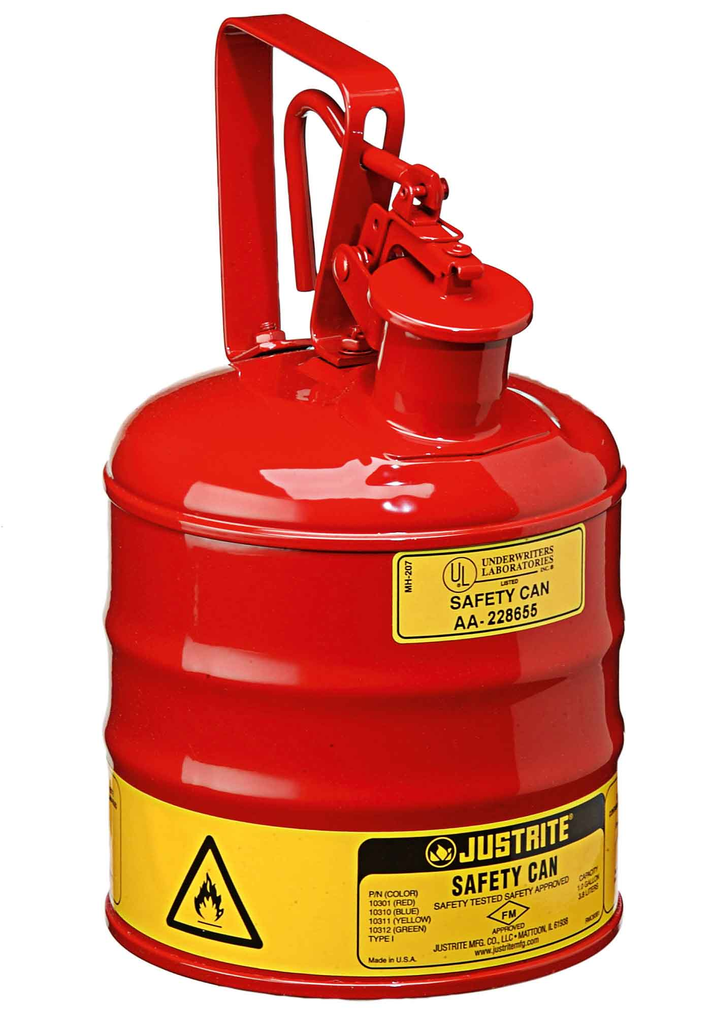 JUSTRITE Safety Cans For Flammables