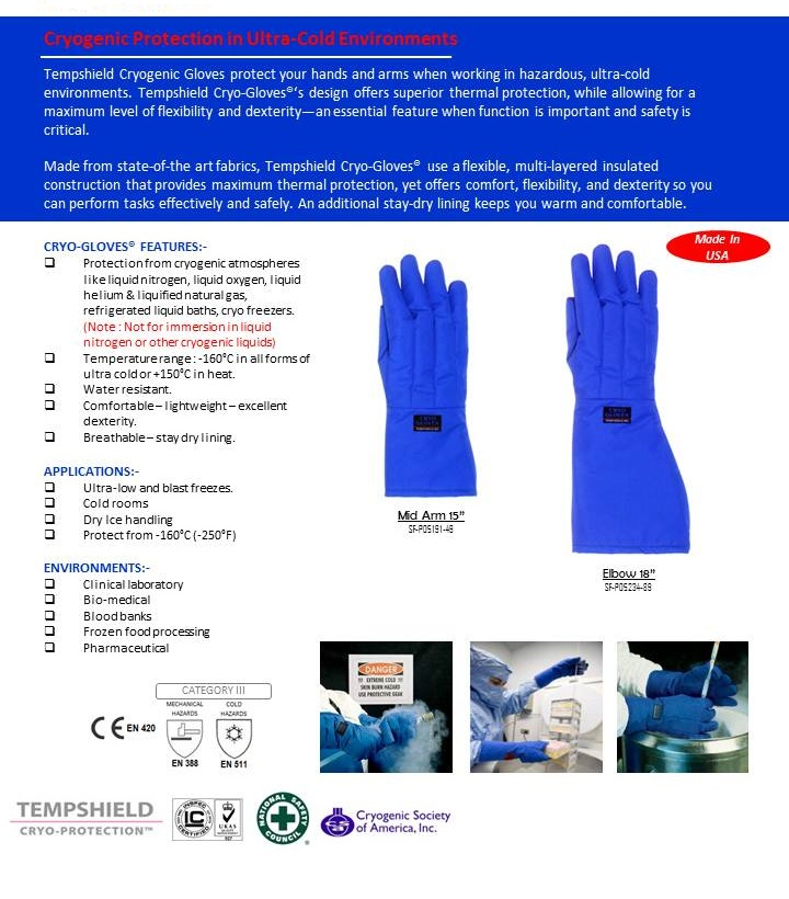 TEMPSHIELD Cold Resistant Gloves